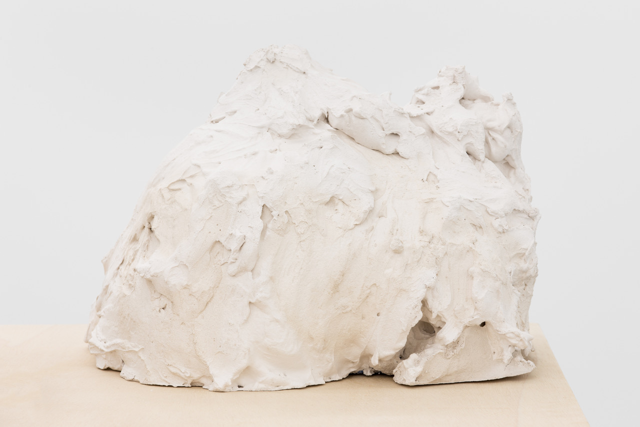 Detail: 'Suspended Memory (Displaced Geography)', plaster